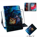 Oil Owl Pattern Horizontal Flip Leather Case for  iPad Pro 11 inch (2018), with Holder & Card Slot & Wallet