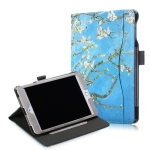 Cowhide Texture Apricot Pattern Colored Drawing Horizontal Flip Leather Case for iPad Mini 2019 / Mini 4, with Holder & Sleep / Wake-up Function