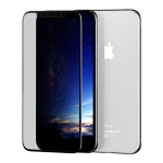 ROCK 9H 0.3mm HD Curved Anti-glare Full Screen Tempered Glass Film for iPhone XS Max (Black)