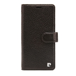 Pierre Cardin PCS-P08 Horizontal Flip Leather Case for iPhone XS Max, with Holder & Card Slot (Black)