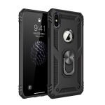 Armor Shockproof TPU + PC Protective Case for iPhone XS Max, with 360 Degree Rotation Holder (Black)