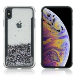 Carbon Gold Glitter Powder TPU Case for iPhone XR(Black)