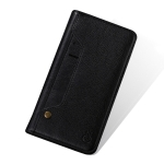 MUSUBO C3 Crazy Horse Texture Horizontal Flip PU Leather Case for iPhone XS / X, with Holder & Movable Card Slots & Wallet (Black)