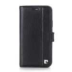 Pierre Cardin PCL-P05 Horizontal Flip Leather Case for iPhone X / XS, with Holder & Card Slot & Wallet (Black)