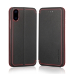 Pierre Cardin PCS-P17-1 Horizontal Flip Leather Case for iPhone X / XS, with Holder & Card Slot (Black)
