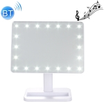 S9 Bluetooth V4.2 Speaker LED Makeup Mirror Smart Music Player (White)