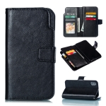Litchi Texture Horizontal Flip Leather Case for iPhone XS / X, with Card Slots & Wallet & Photo Frame (Black)