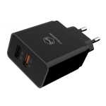 Mcdodo CH-5131 5V 1A + QC 3.0 Dual USB Ports Travel Charger, EU Plug(Black)