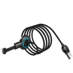 Mcdodo CA-5951 Razer Series 180 Degree Elbow Design Gaming 8 Pin to USB Cable with 7 Colors Breathing Light, Length: 1.8m (Black)