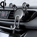 Baseus Universal Car Air Outlet Charging Holder, with 8 Pin Charging Cable(Black)