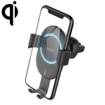 hoco CW17 Sage Series In-Car Stand Qi Standard Wireless Fast Charger (Black)