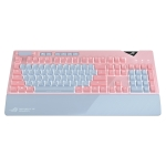 ASUS Strix Flare Pink LTD RGB Backlight Wired Mechanical Red Switch Gaming Keyboard with Detachable Wrist Rest