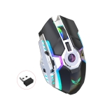 ZERODATE T30 2.4GHz 2400DPI Three-speed Adjustable RGB Backlight Wireless Optical Mouse (Black)