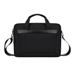 DJ06 Oxford Cloth Waterproof Wear-resistant Portable Expandable Laptop Bag for 15.4 inch Laptops, with Detachable Shoulder Strap(Black)