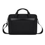 DJ06 Oxford Cloth Waterproof Wear-resistant Portable Expandable Laptop Bag for 15.4 inch Laptops, with Detachable Shoulder Strap(Black)