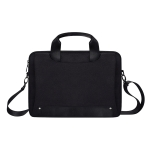 DJ08 Oxford Cloth Waterproof Wear-resistant Laptop Bag for 13.3 inch Laptops, with Concealed Handle & Luggage Tie Rod & Adjustable Shoulder Strap (Black)