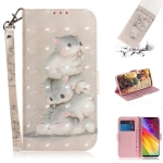 3D Colored Drawing Squirrels Pattern Horizontal Flip Leather Case for LG Q Stylo 5, with Holder & Card Slots & Wallet
