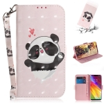 3D Colored Drawing Heart Panda Pattern Horizontal Flip Leather Case for LG Q Stylo 5, with Holder & Card Slots & Wallet