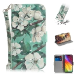 3D Colored Drawing Watercolor Flower Pattern Horizontal Flip Leather Case for LG Q Stylo 5, with Holder & Card Slots & Wallet