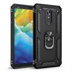 Armor Shockproof TPU + PC Protective Case for LG Stylo 5, with 360 Degree Rotation Holder (Black)