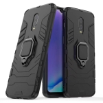 PC + TPU Shockproof Protective Case with Magnetic Ring Holder for OnePlus 7 (Black)
