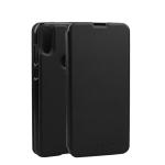 Oukitel Spring Texture Horizontal Flip Leather Case for Oukitel C15 Pro with Holder (Black)