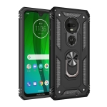 Armor Shockproof TPU + PC Protective Case for Motorola Moto G7, with 360 Degree Rotation Holder (Black)