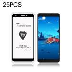 25 PCS MIETUBL Full Screen Full Glue Anti-fingerprint Tempered Glass Film for Google Pixel 3a XL (Black)