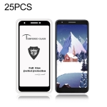 25 PCS MIETUBL Full Screen Full Glue Anti-fingerprint Tempered Glass Film for Google Pixel 3a (Black)