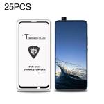 25 PCS MIETUBL Full Screen Full Glue Anti-fingerprint Tempered Glass Film for Huawei P Smart Z (Black)