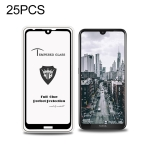 25 PCS MIETUBL Full Screen Full Glue Anti-fingerprint Tempered Glass Film for Nokia 3.2 (Black)