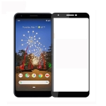 PINWUYO 9H 2.5D Full Screen Tempered Glass Film for Google Pixel 3a (Black)