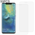 50 PCS 3D Curved Full Cover Soft PET Film Screen Protector for Huawei Mate 20 Pro