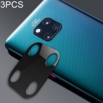 3 PCS 10D Full Coverage Mobile Phone Metal Rear Camera Lens Protection Ring Cover for Huawei Mate 20 Pro(Black)