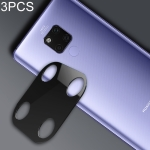 3 PCS 10D Full Coverage Mobile Phone Metal Rear Camera Lens Protection Ring Cover for Huawei Mate 20 X(Black)