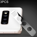 3 PCS 10D Full Coverage Mobile Phone Metal Rear Camera Lens Protection Cover for Samsung Galaxy S10