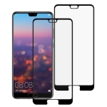2 PCS 9H Silk Print Full Screen Tempered Glass Film for Huawei P20