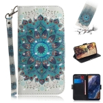 3D Colored Drawing Peacock Wreath Pattern Horizontal Flip Leather Case for Nokia 9, with Holder & Card Slots & Wallet
