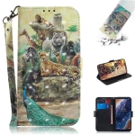 3D Colored Drawing Animals Pattern Horizontal Flip Leather Case for Nokia 9, with Holder & Card Slots & Wallet