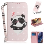 3D Colored Drawing Heart Panda Pattern Horizontal Flip Leather Case for Nokia 9, with Holder & Card Slots & Wallet