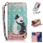 3D Colored Drawing Cats Pattern Horizontal Flip Leather Case for Nokia 9, with Holder & Card Slots & Wallet