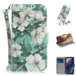 3D Colored Drawing Watercolor Flower Pattern Horizontal Flip Leather Case for Nokia 9, with Holder & Card Slots & Wallet