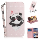 3D Colored Drawing Heart Panda Pattern Horizontal Flip Leather Case for Nokia 4.2, with Holder & Card Slots & Wallet