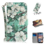 3D Colored Drawing Watercolor Flower Pattern Horizontal Flip Leather Case for Nokia 4.2, with Holder & Card Slots & Wallet