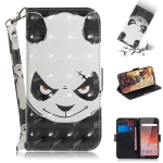 3D Colored Drawing Angry Bear Pattern Horizontal Flip Leather Case for Nokia 1 Plus, with Holder & Card Slots & Wallet