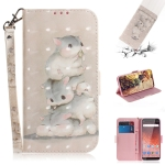 3D Colored Drawing Squirrels Pattern Horizontal Flip Leather Case for Nokia 1 Plus, with Holder & Card Slots & Wallet