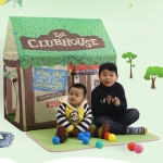 Household Children Printing Play Tent Small Game House with Mat (Green)