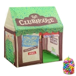 Household Children Printing Play Tent Small Game House, with 50 Ocean Balls (Green)