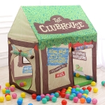 Household Children Printing Play Tent Small Game House (Green)