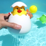 3 PCS 1768B Duck Egg Shape Plastic Children Baby Animal Shower Swimming Bathroom Water Spray Toy, Random Colors